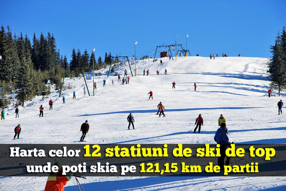 12 statiuni de ski