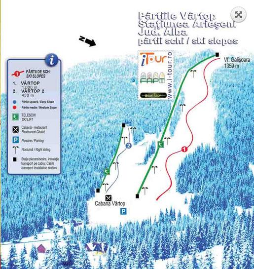Harta Celor 12 Statiuni De Ski De Top Unde Poti Skia Pe 121 15 Km