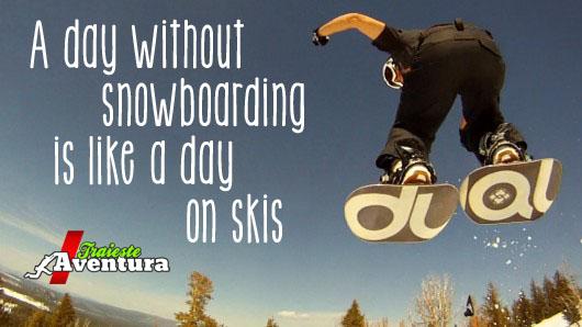 snowboarding ski